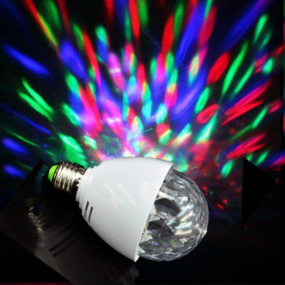 E27 színes diszkó LED