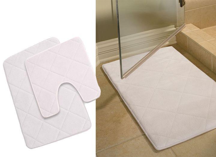 2 db-os, memóriahabos fürdőszoba szőnyeg szett - 67-os kupon ...