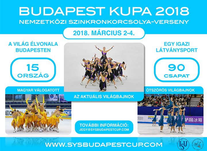 9e73120098 Budapest Kupa - Szinkronkorcsolya Verseny - 40%-os kupon · MaiKupon.hu