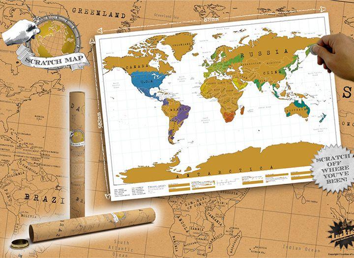 lekaparható térkép Kaparós térkép világutazóknak   50% os kupon · maikupon.hu lekaparható térkép